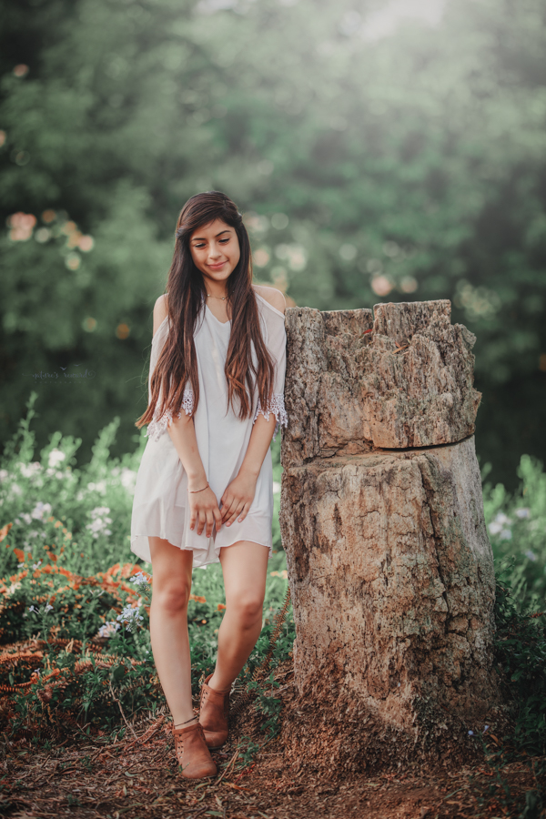 Lovely young lady portrait then during a family session by Nature' sReward Photography
