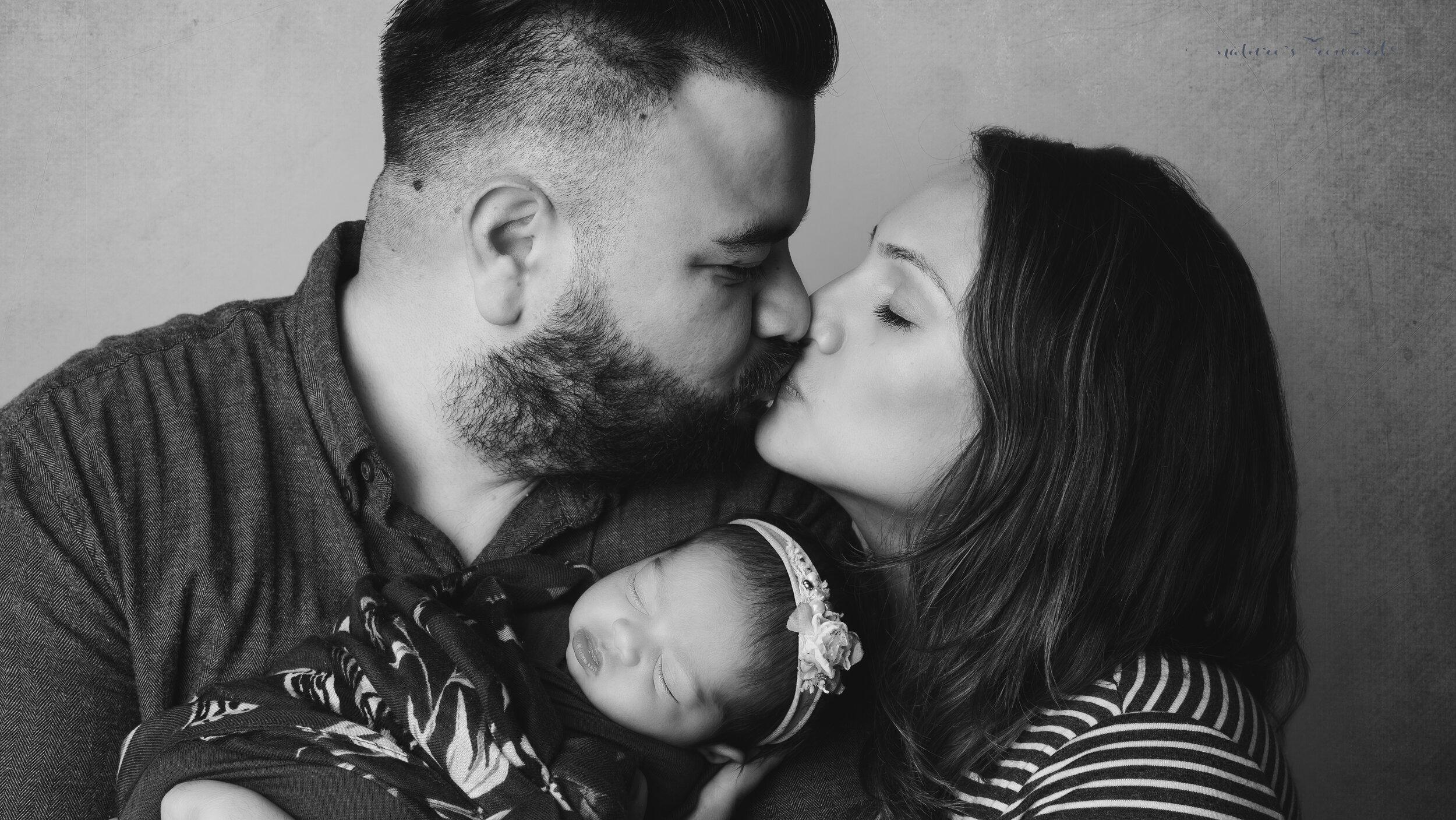 Family portrait, a newborn portrait by Nature's Reward Photography