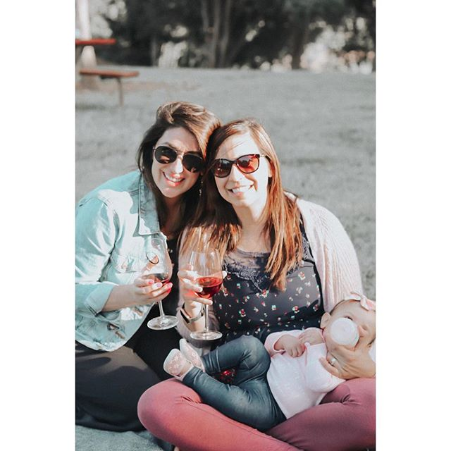 Best friends, babies, & wine. 🍷👯♀️  What other joys could you ask for?!