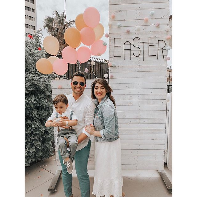 Our FIRST Easter together as a family!! 🐣  So, obviously I'm posting this super late 😆 #momlifebelike   The day was perfect...after visiting an amazing church and having a quiet lunch, Dresden did a hunt for #cascarones - courtesy of grandma @evaandrson - and it was the best time.  It was a day that embodied #theartofslowliving and I wouldn't have had it any other way!  𝐈 𝐚𝐦 𝐬𝐨 𝐭𝐡𝐚𝐧𝐤𝐟𝐮𝐥 𝐭𝐨 𝐡𝐚𝐯𝐞 𝐬𝐩𝐞𝐧𝐭 𝐭𝐡𝐞 𝐝𝐚𝐲 𝐰𝐢𝐭𝐡 𝐦𝐲 𝐩𝐫𝐞𝐜𝐢𝐨𝐮𝐬 𝐟𝐚𝐦𝐢𝐥𝐲.  𝐒𝐨 𝐛𝐥𝐞𝐬𝐬𝐞𝐝, 𝐬𝐨 𝐟𝐮𝐥𝐥𝐲 𝐥𝐨𝐯𝐞𝐝. 💘