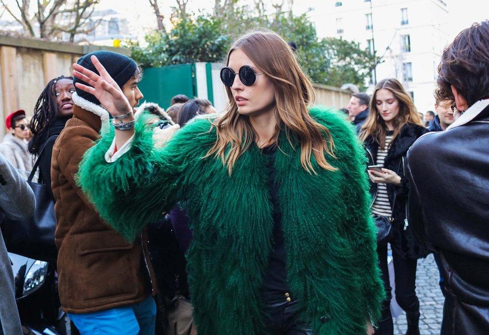Nadja Bender,  image by Phil Oh , Paris Fashion Week 2016.