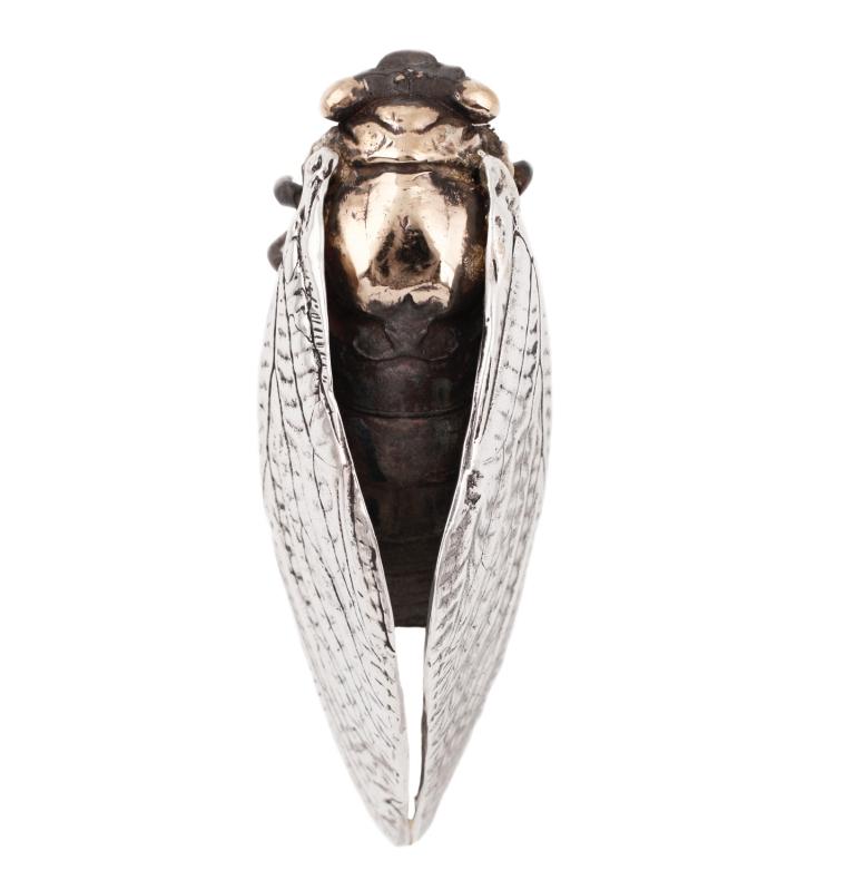 Bronze Cicada Sculpture by  Biological Jewels .