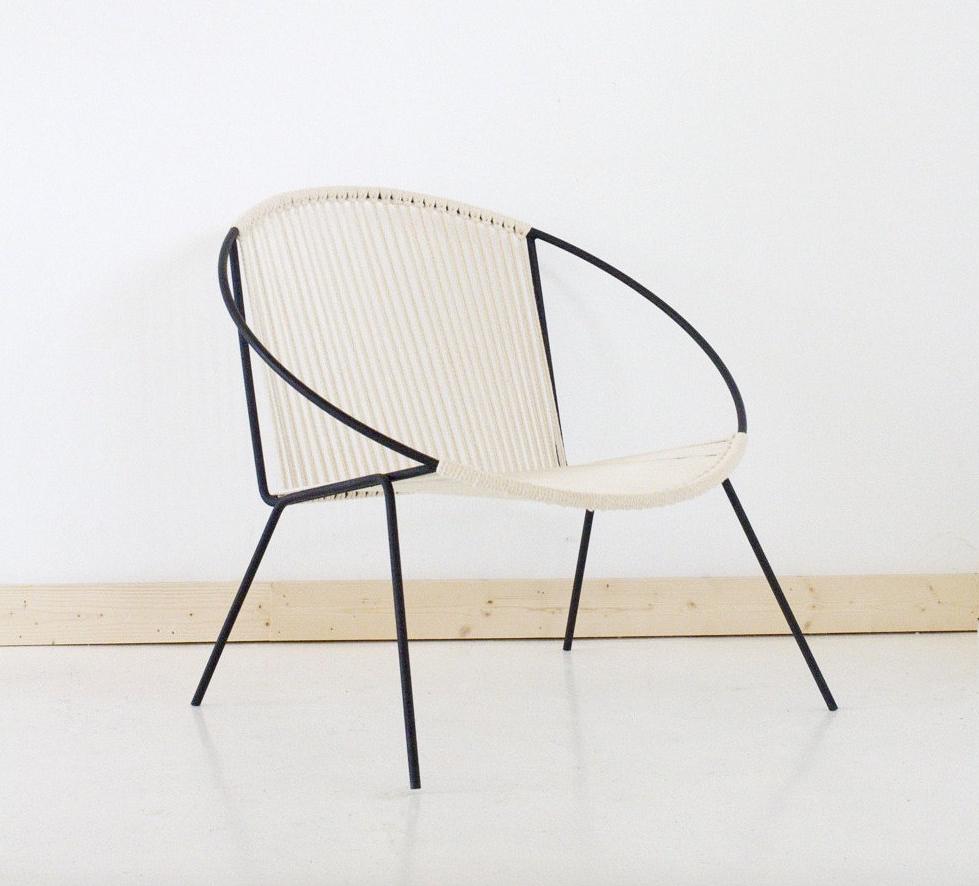 Welded Steel Frame Woven Hoop Chair