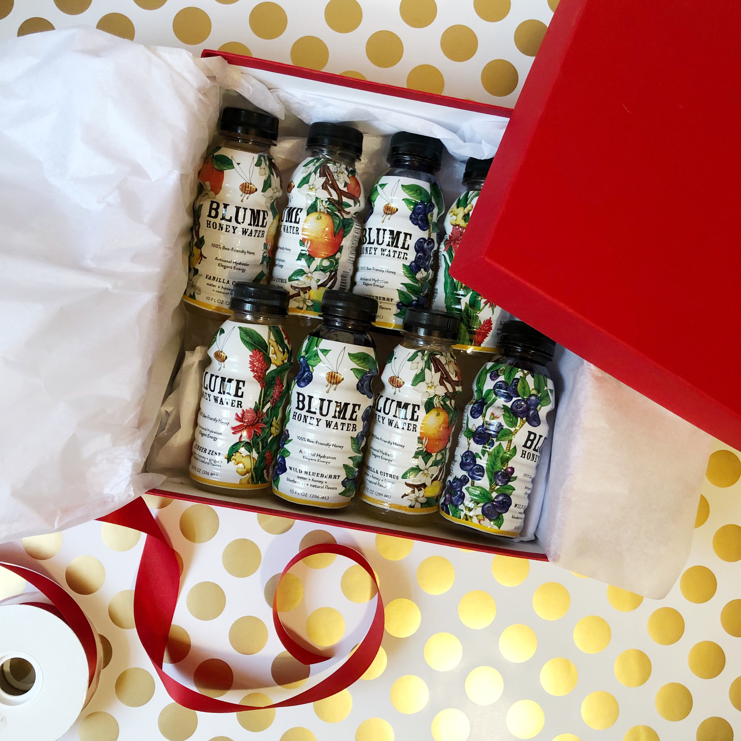 A case of Blume Honey Water