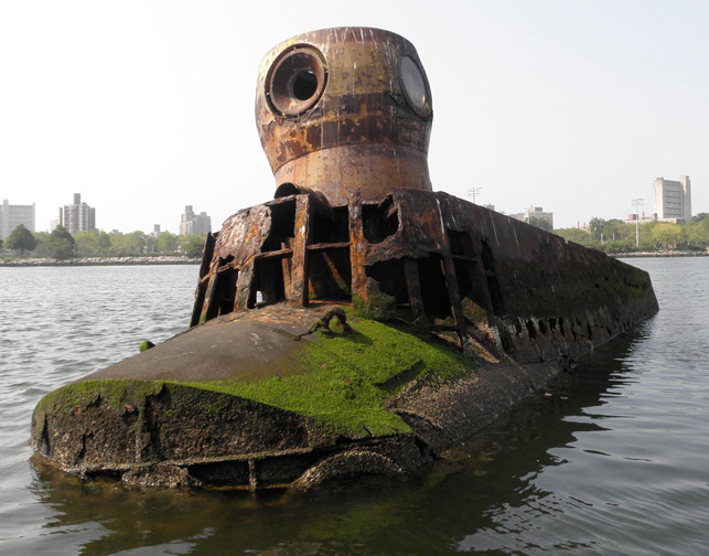 Quester submarine, Coney island Creek, courtesy of Marie Lorenz