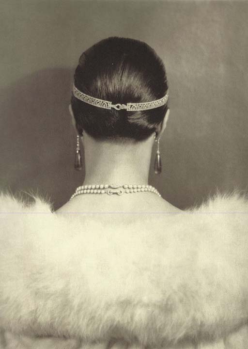 Carlotta Monterey with Diamond Head Bandeau by Cartier, 1924, Edward Steichen