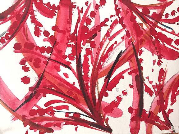 Sea Fern Print - Urchin, Voyage, Brenna Colvin, Resort 2016