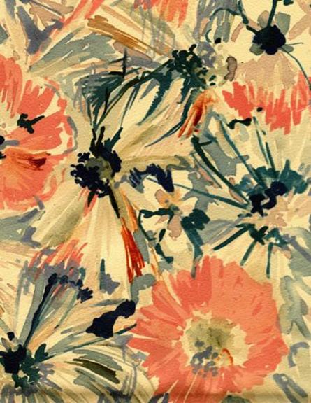 Pretty Color Palettes #11, Vintage Floral Textile, Luli Sanchez