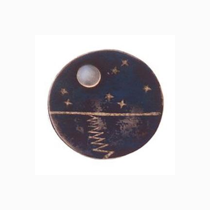 Chato Castillo, Moon and Stars Brooch