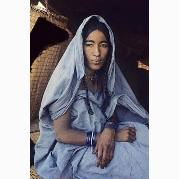 Victor Englebert, A Tuareg Woman at Her Tent Entrance, Niger