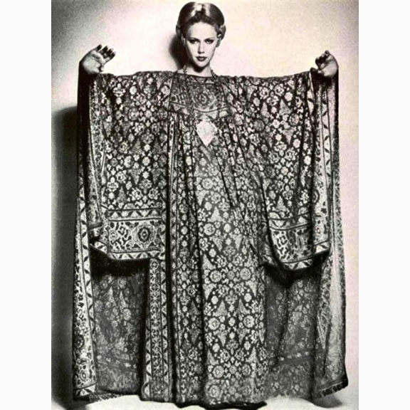 Vintage Image of a Woman in a Caftan