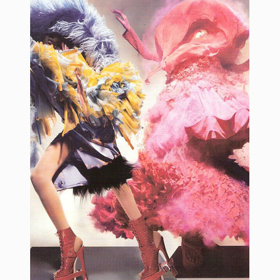 Nick Knight, Jourdan Dunn and Lily Donaldson, British Vogue, December 2008
