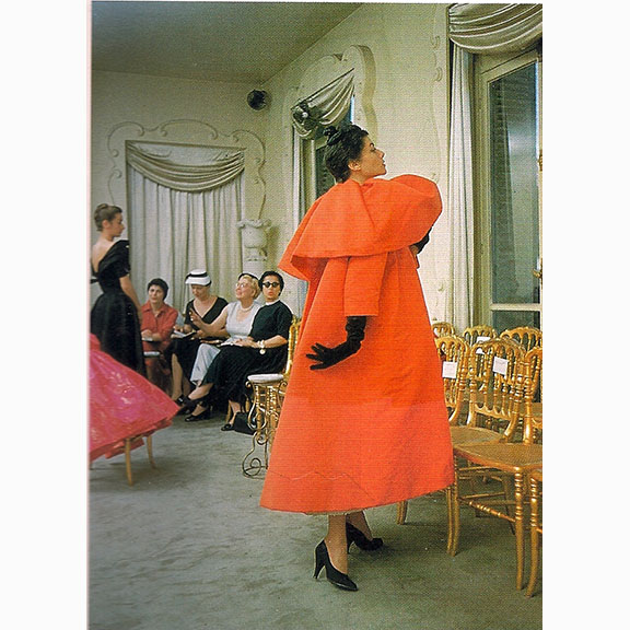 Mark Shaw, Balenciaga Orange Coat Side View, 1953