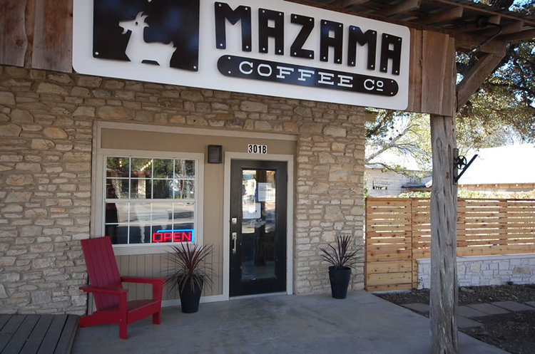 Mazama Coffee Company + Roastery in Historic District of Dripping Springs, Texas