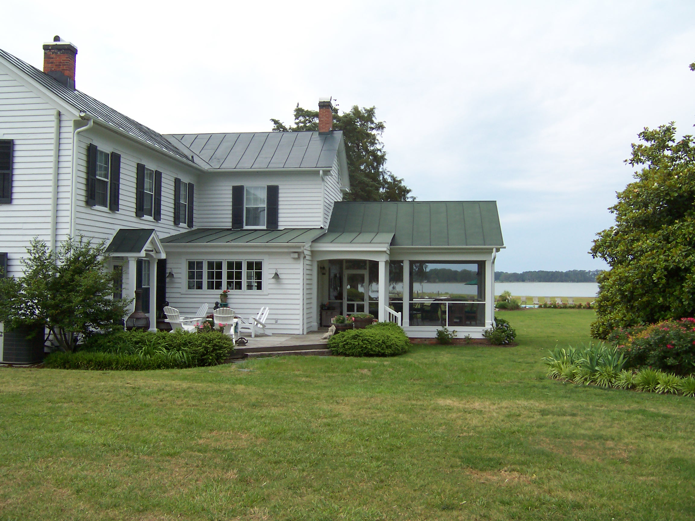 Porch Addition...to 1850 Farmhouse