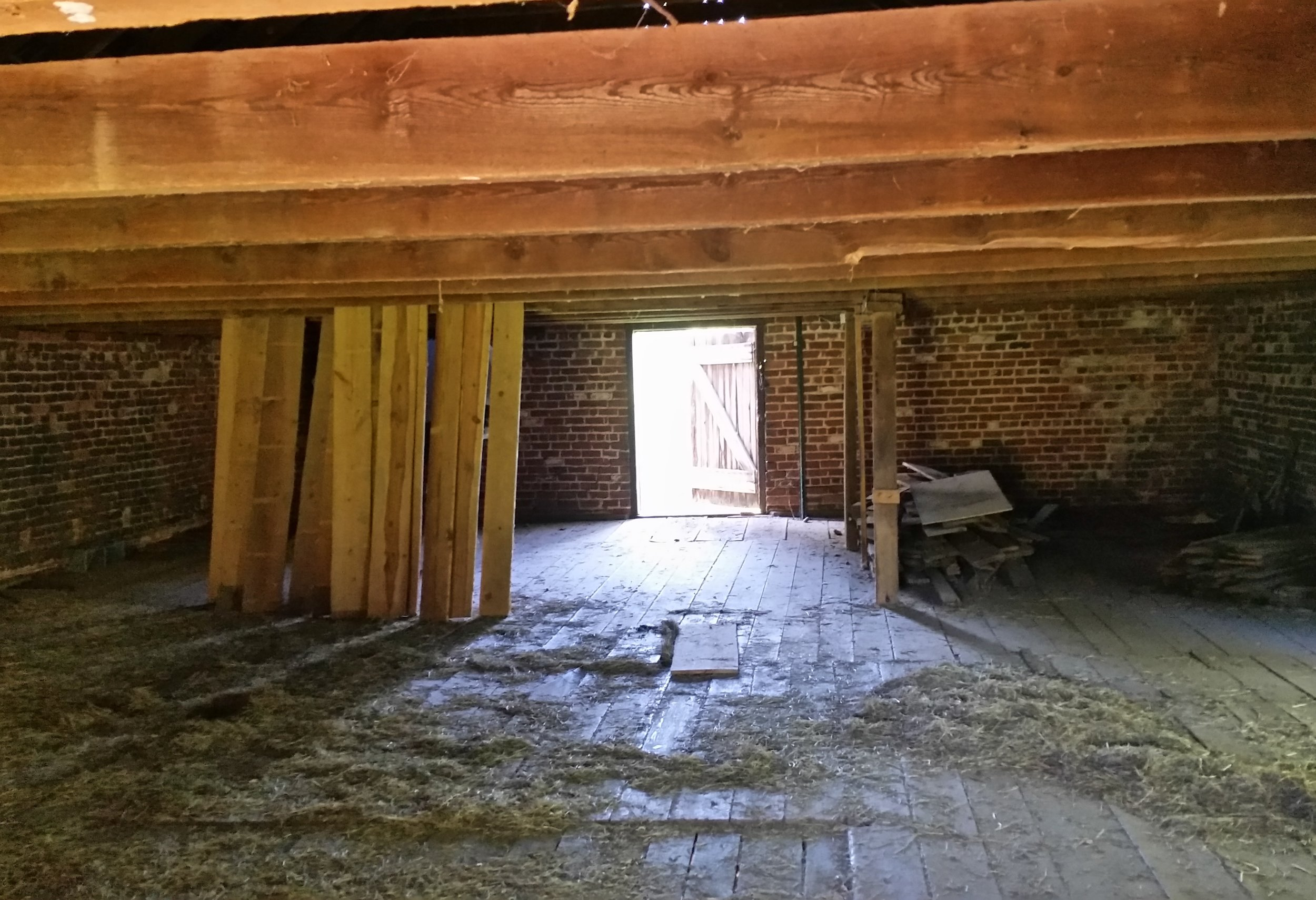 Second floor loft before construction