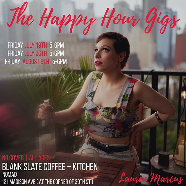 Welp kids, here we go: ALL-AGES SHOWS starting this Friday, early evening!!!⚡️Wanna come out for a casual hang and set of my tunes before I run away to @bemorechillmusical ? You'll find me and a few friends at @blankslatenyc , an amazing little cafe that also used to employ me as a cashier! FIRST HAPPY HOUR GIG: This Friday 7/19, 5-6pm. Come and listen to some stripped down tunes, eat, drink (IF YOURE LEGAL), and be part of these Happy Hour gigs with me. I know there's no other way I'd wanna kick off my weekend. 📸: @marqwallsnyc , the absolute genius himself. Major thx to @lipstickbailey for her assistance. ❤️