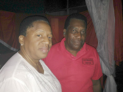 Mrs. Beckles-Robinson with Mr.Faria Hendricks at the party