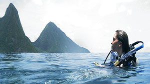 Saint Lucia  is an Eastern Caribbean Island nation with a pair of dramatically tapered mountains called the Pitons.    Read More →