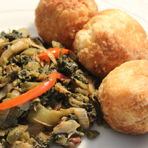Callaloo & Salfish