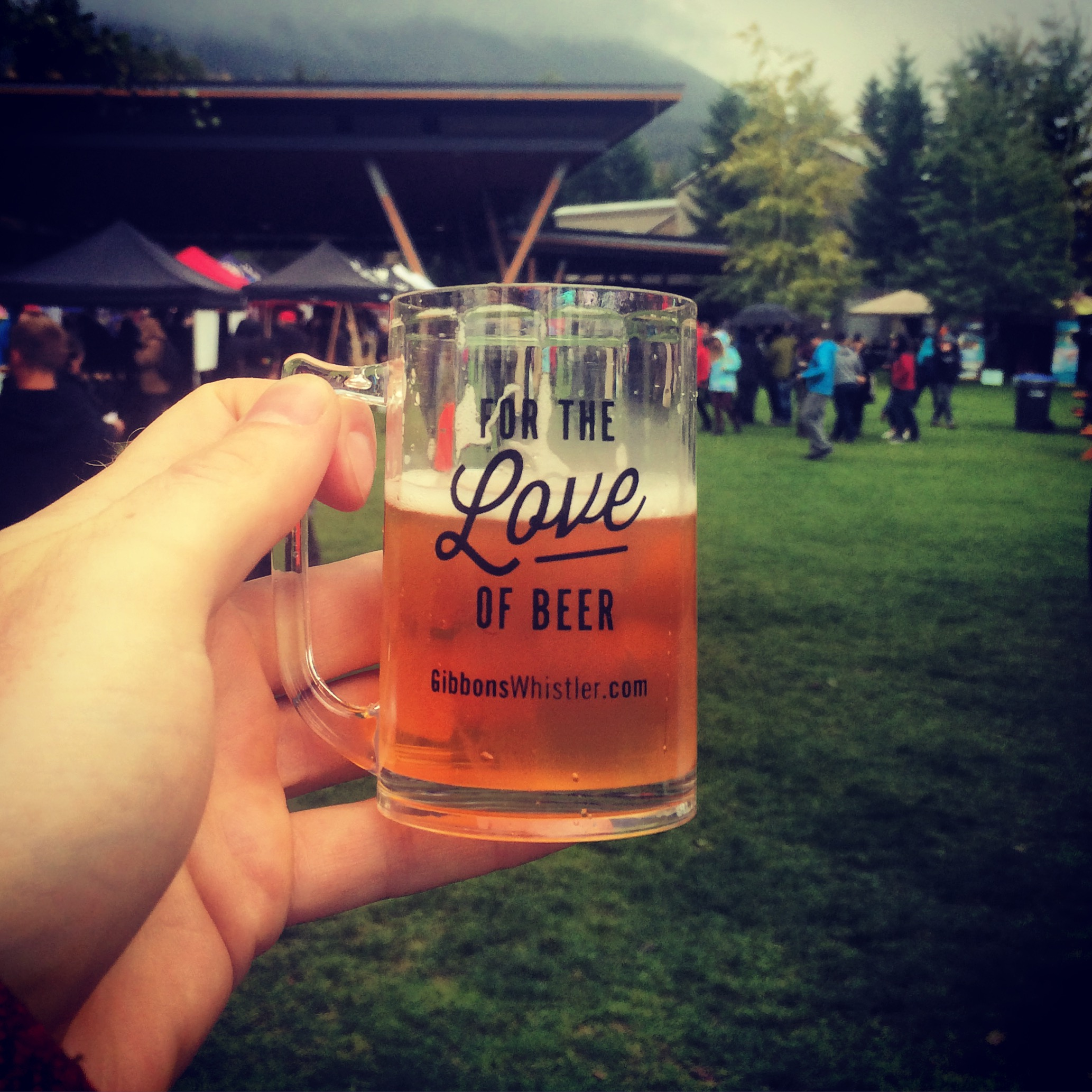 A mini pint of awesomeness courtesy of the Whistler Village Beer Festival