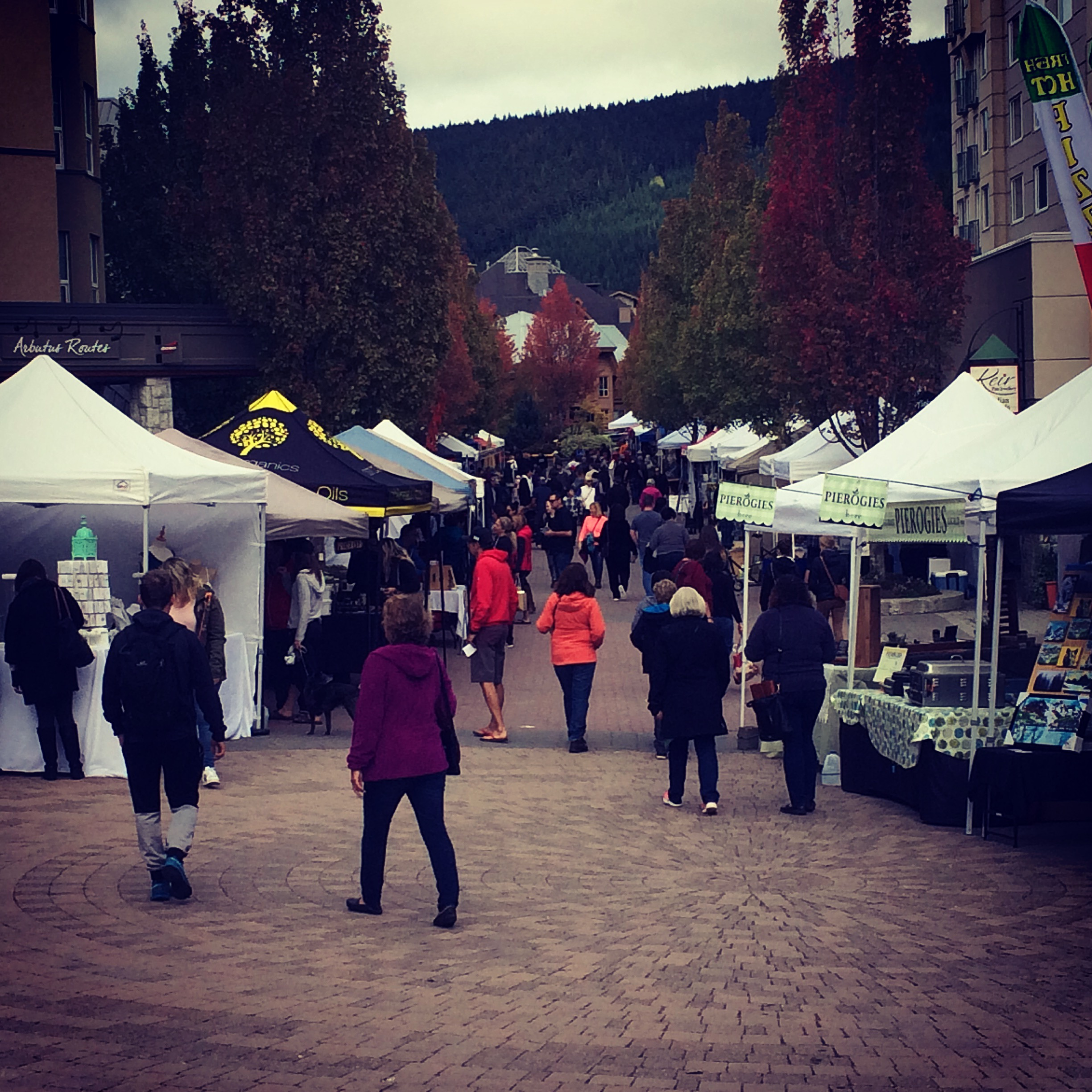 Busy Sunday at the Whistler Farmers Market