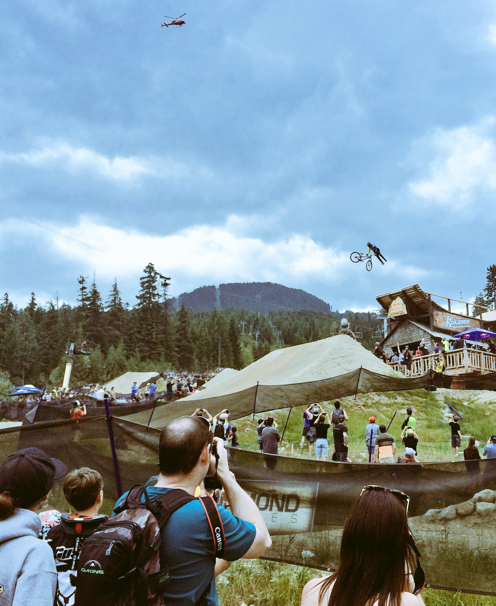 Red Bull Joyride from a mountainside viewing point - Photo credit: Blake Allen