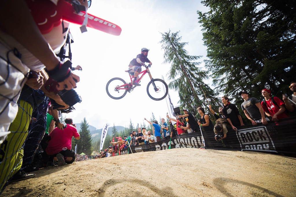 Crankworx Whip off Challenge. Photo credit: Claire Lang Photography