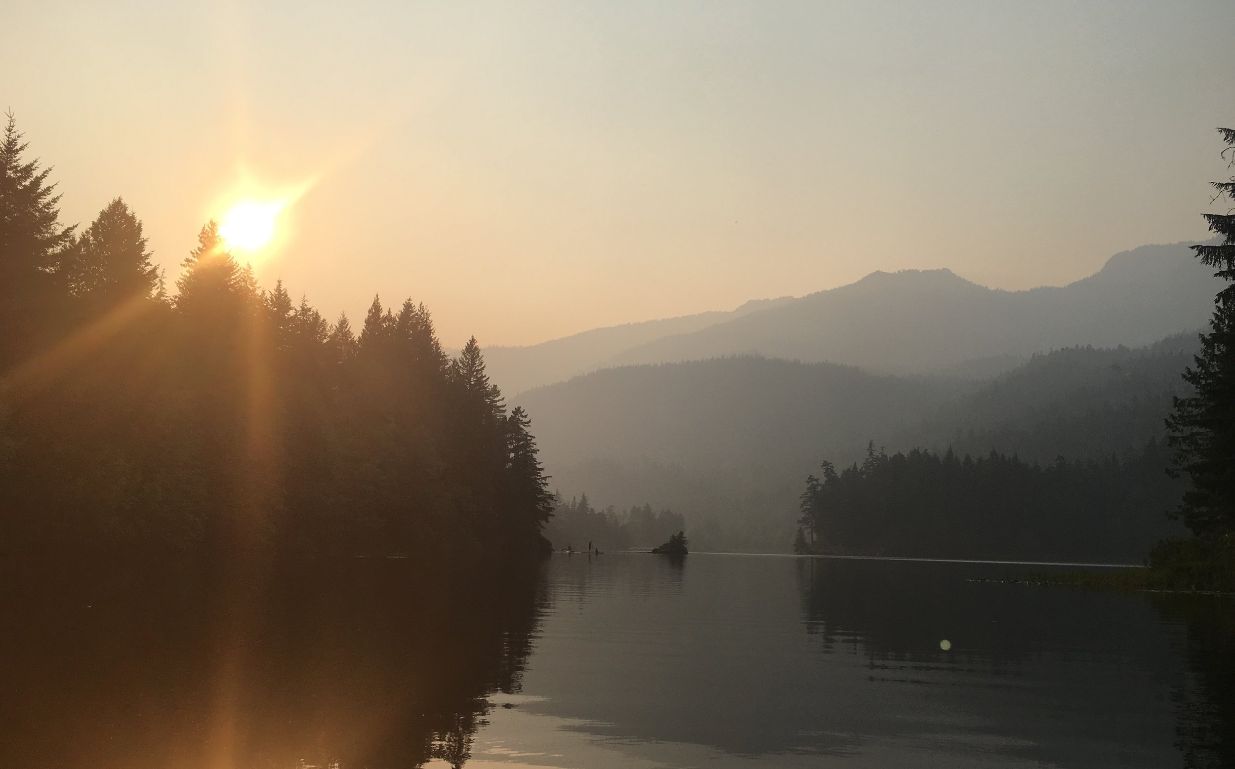 View from Alpha Lake, one of Whistler's many tranquil lakes. Photo Credit: Chris Brook
