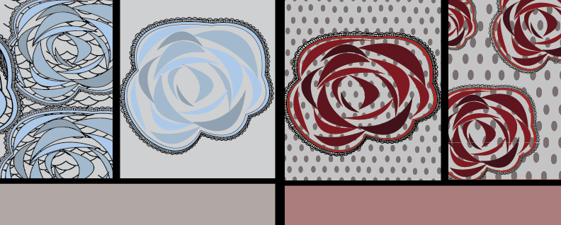 Process - I took the new color pallet and changes in the Nike swimwear line and combined these ideas to create a new background that had a stronger connection to athletic wear and the swim line color ways.