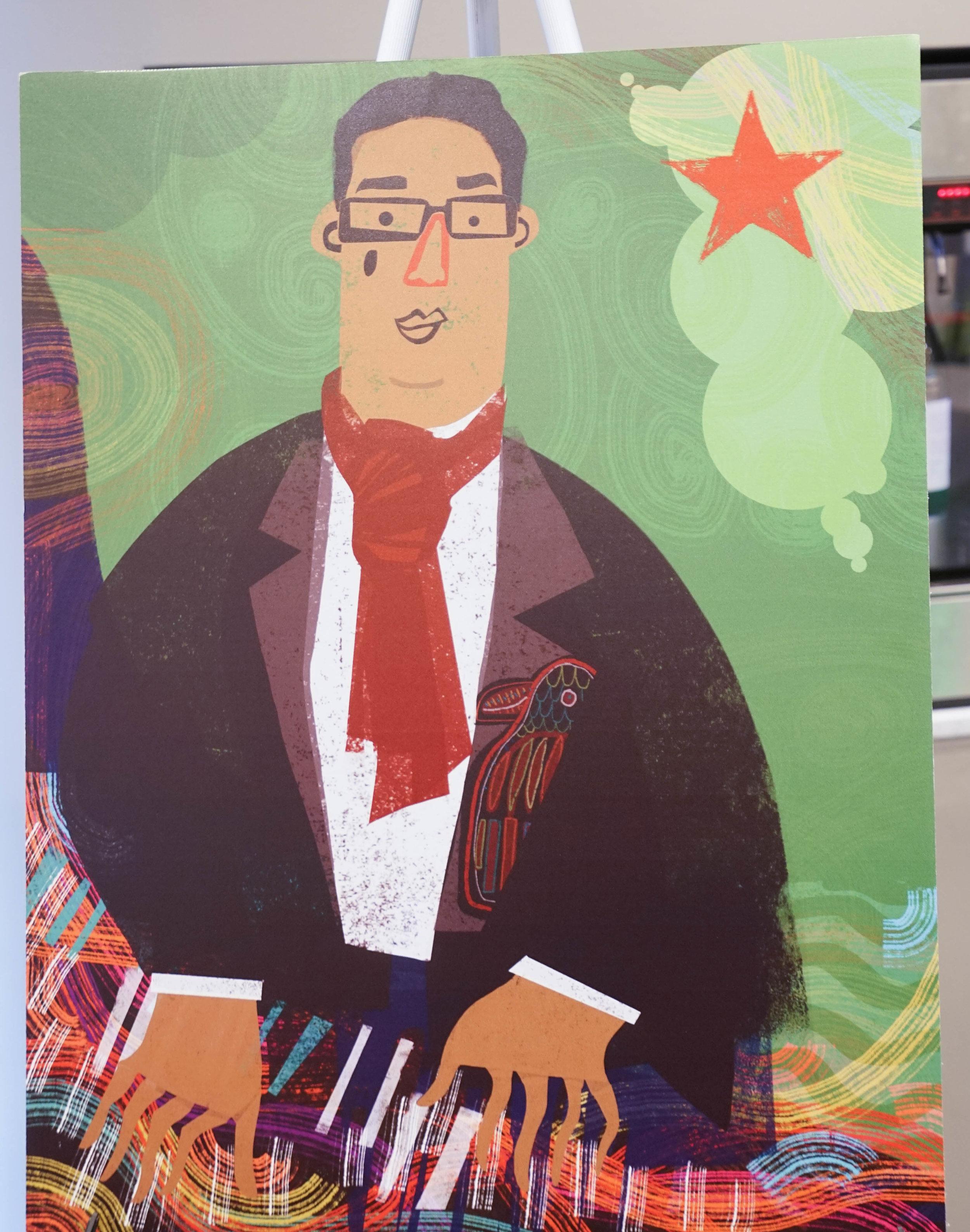 """Afiche conmemorativo """"MOLA Jazz"""" de la artista Nivea Ortiz. (Suministrada)"""