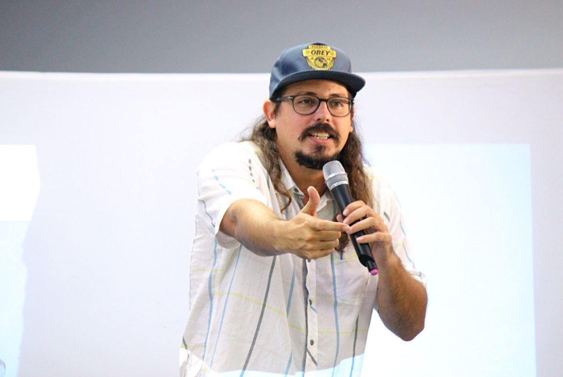 El comediante habló sobre sus orígenes en el ciberespacio. Foto: Suministrada por Druell Music ( druellmusic@gmail.com )