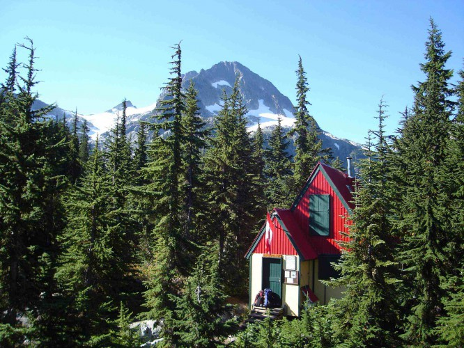 Tantalus Hut (Lake Lovely Water):   Located at the outflow end of Lake Lovely Water, Tantalus Hut sits in a remote location at 3,850ft in the trees. The hut is a two-story wooden structure with a large kitchen / dining room on the main floor and a sleeping loft with foam mattresses for 20 people above. There is a dock nearby with two large rowboats and a canoe.   Cost:  $400 one way, $800 round trip - for up to 5 passengers    Click Here   to reserve the cabin