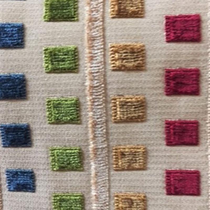Multi Striped Velvet  Style: Upholstery ID: 8522 Retail Price: $71.90 87% Visc 13% Cott