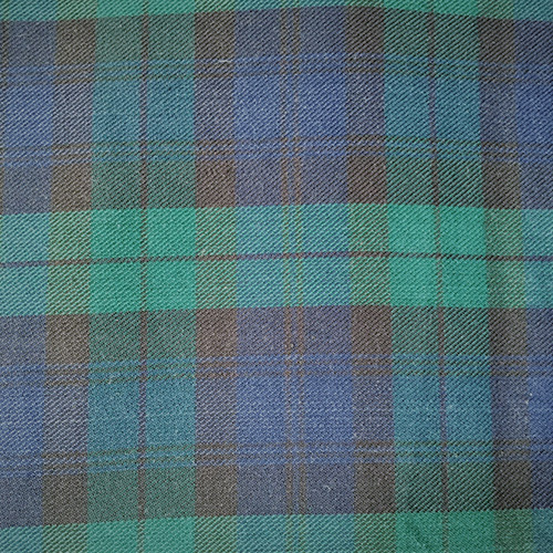 Blackwatch Plaid #944  Style: Checks & Plaids ID: 16412 Color: Blue/Green Retail Price: $24.90 per yard Content: 100% Cotton