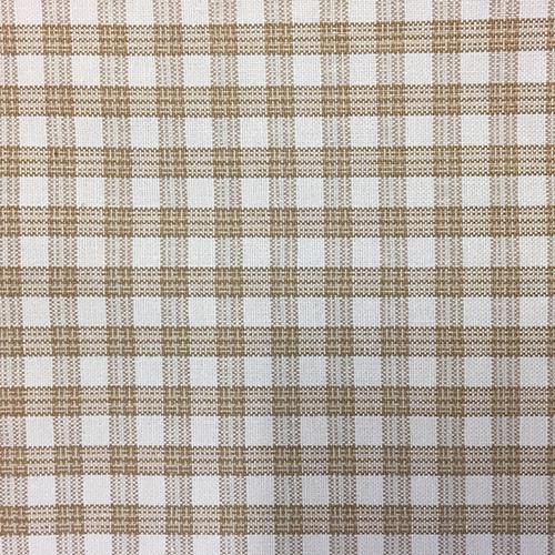Highland Check  Style:Checks & Plaids ID:14996 Color: Coconut Retail Price: $20.90 per yard Content: 100% Cotton