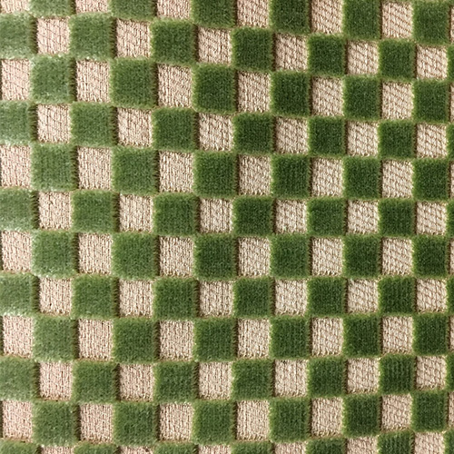 Squares  Style:Checks & Plaids ID:11535 Color: Green Retail Price: $94.90 per yard Content: 100% Viscose