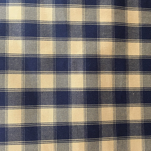Tes Rover  Style:Checks & Plaids ID:7381 Color: Blue Retail Price: $19.90 per yard Content: 100% Egyptian Cotton