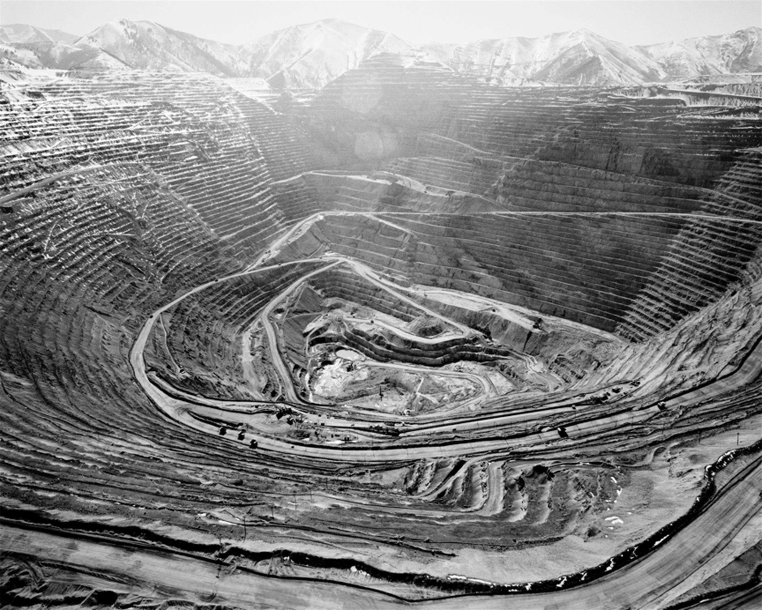 Bingham Mine 2006, Photograph by  Michael Light .      (Image copied from the gallery page of  Extractionart.org .)