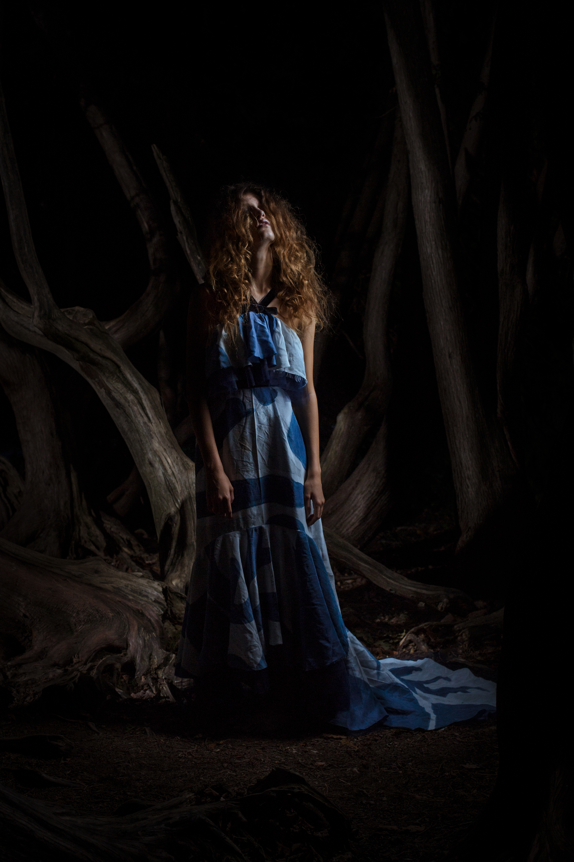 Photography: Lance Kenneth Blakney l Model: Athenais Testi l Hair: Mike Drost l Fashion Design: Adrienne Goodine l Surface Design/Producer: Dee Wilkie