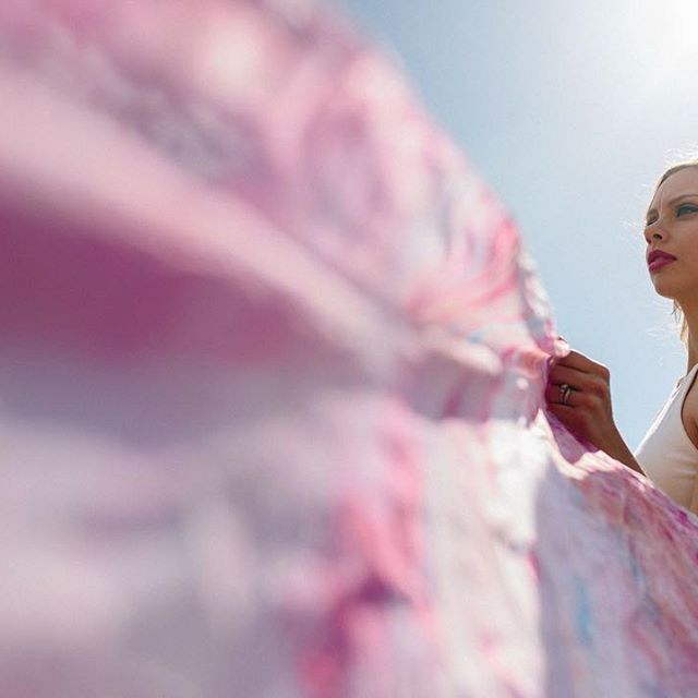Photography:  Mag Hood  l Model:  Sara Calhoun  l Surface Design:  Dee Wilkie