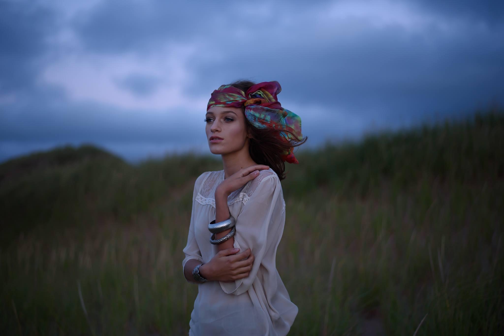 Photography:  Stephanie Lane  l Model:  Athenais Testi  l Hair/MUA:  Amy Barter  l Hand Dyed Silk:  Dee Wilkie
