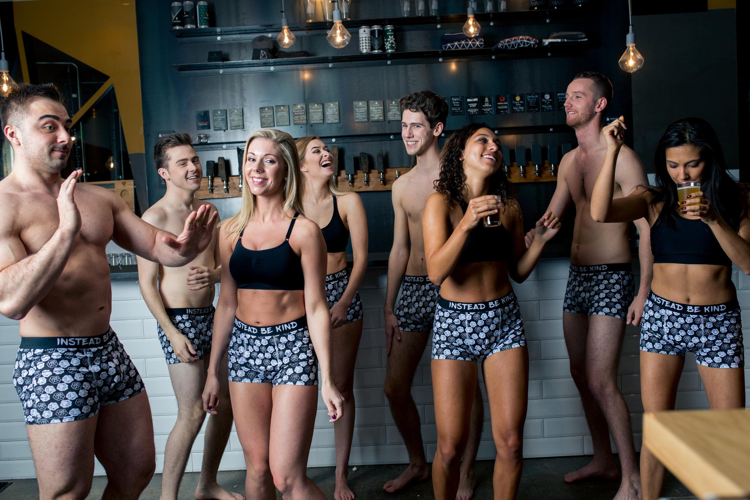 Photography:  Mag Hood l Models:  Jon Brown , Jordan Profit ,  Amanda Brown , Elly Roberts , Matthew Hynes ,  Alex Vautour ,  Ben Graham ,  Fran Vasconez , l Location:  Gray Stone Brewing  l Boxers/Styling:  Dee Silkie