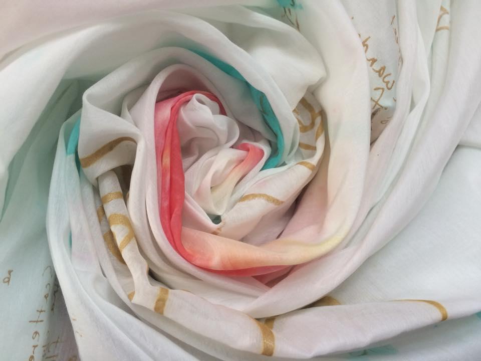 JUMBO silk cotton scarf