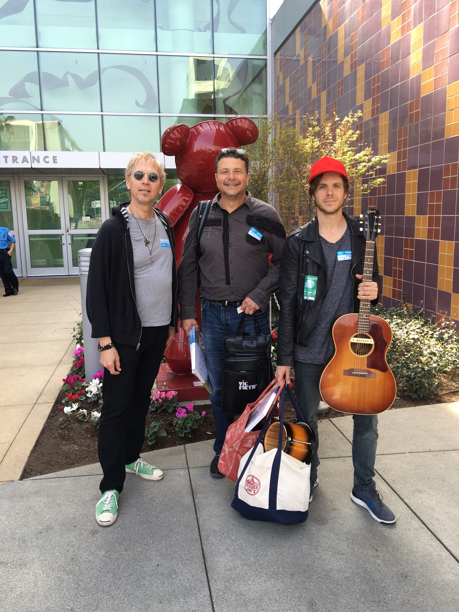 Paul Kingery, Pat Bautz, Dash Hutton After Performing at Children's Hospital Los Angeles Photo by Laurie Hutton | 2016