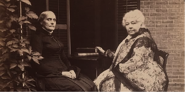 Susan B. Anthony (1820-1906) and Elizabeth Cady Stanton (1815-1902)