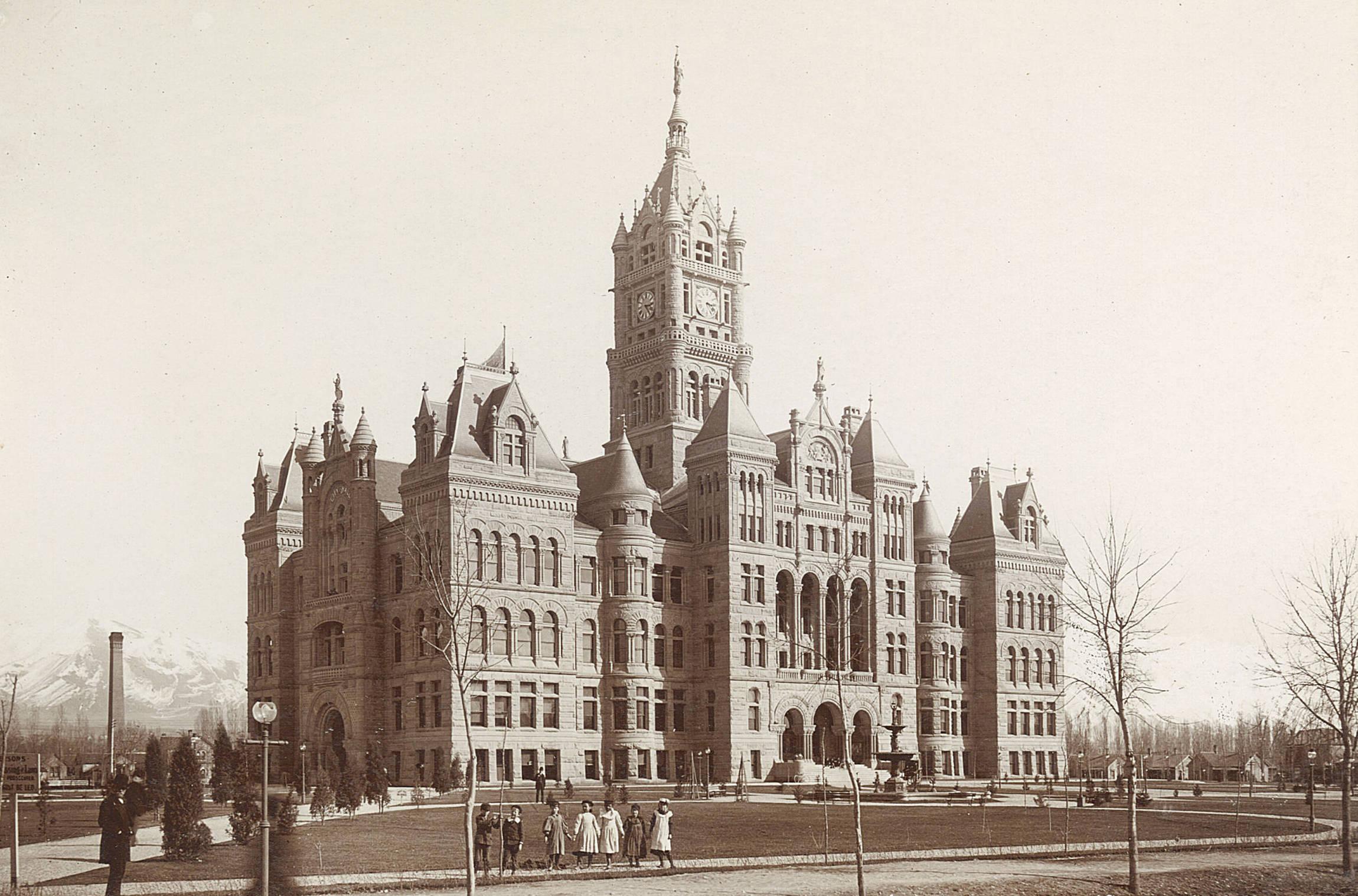 The Salt Lake City and County Building, circa 1894