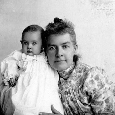 """Of motherhood, Martha Hughes Cannon said, """"You give me a woman who thinks about something besides cook stoves and wash tubs and baby flannels, and I'll show you, nine times out of ten, a successful mother."""" Photo courtesy of the Utah State Historical Society."""