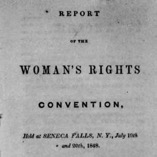 The Declaration of Sentiments was reprinted in the official convention report [Library of Congress]