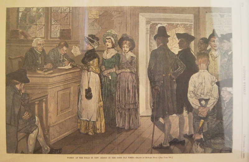"""Women at the Polls in New Jersey in the Good Old Times,"" Harper's Weekly, November 13, 1880."